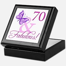 70 & Fabulous (Plumb) Keepsake Box
