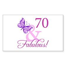 70 & Fabulous (Plumb) Decal