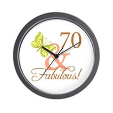 70 & Fabulous (Autumn) Wall Clock