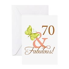 70 & Fabulous (Autumn) Greeting Card