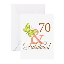 70 & Fabulous (Autumn) Greeting Cards (Pk of 10)