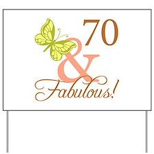 70 & Fabulous (Autumn) Yard Sign