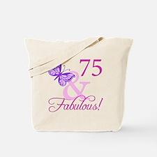75 & Fabulous (Plumb) Tote Bag