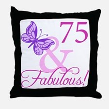 75 & Fabulous (Plumb) Throw Pillow