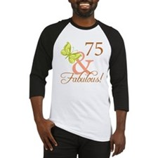75 & Fabulous (Autumn) Baseball Jersey