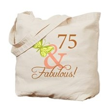 75 & Fabulous (Autumn) Tote Bag