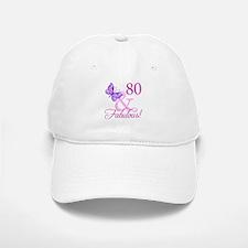 80 & Fabulous (Plumb) Baseball Baseball Cap