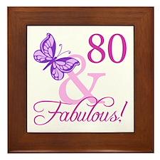 80 & Fabulous (Plumb) Framed Tile