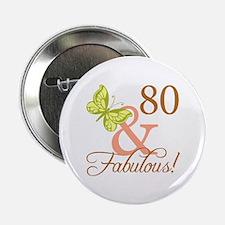 "80 & Fabulous (Autumn) 2.25"" Button"