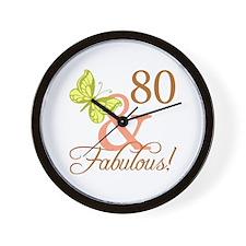 80 & Fabulous (Autumn) Wall Clock