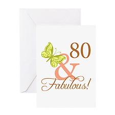 80 & Fabulous (Autumn) Greeting Card
