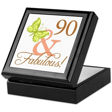 90 & Fabulous (Autumn) Keepsake Box