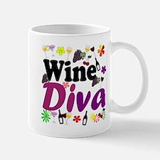 Wine Diva (Purple Flowers) Mug