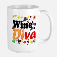 Wine Diva (Orange Flowers) Mug