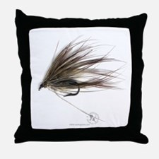 English Spey Fly Throw Pillow