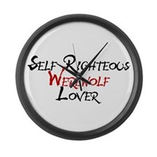 Self Righteous Werewolf Lover Large Wall Clock