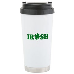 Irish Shamrock Stainless Steel Travel Mug