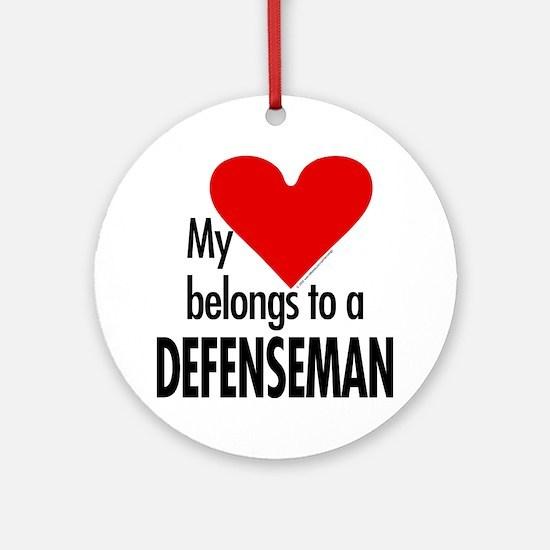 My heart, defenseman Ornament (Round)