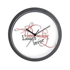 Blood sucking leech lover Wall Clock