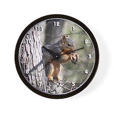 Munching Squirrel Wall Clock