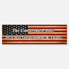Conservative Diet Bumper Bumper Sticker