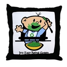 Easy Being Green Throw Pillow