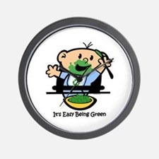 Easy Being Green Wall Clock