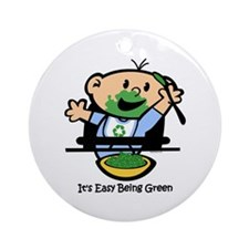 Easy Being Green Ornament (Round)