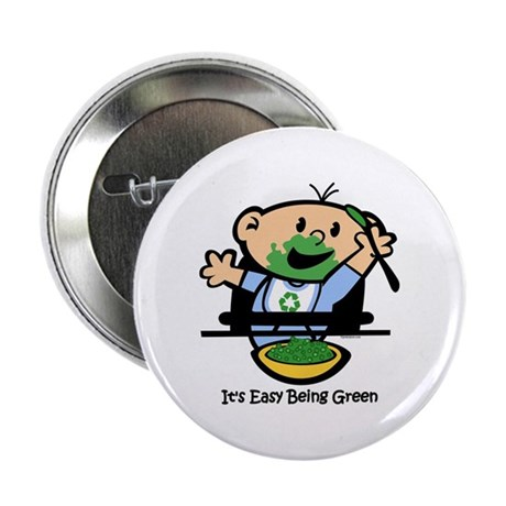 """Easy Being Green 2.25"""" Button"""