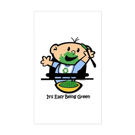Easy Being Green Sticker (Rectangle)