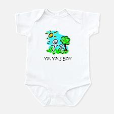 Yia Yia's Boy Stick Figure Infant Bodysuit