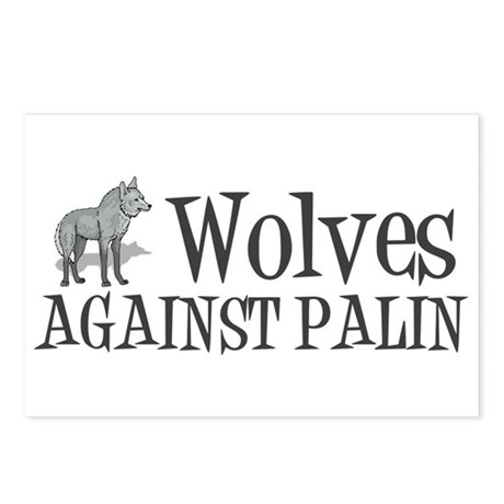 Wolves Against Palin Postcards (Package of 8)