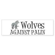 Wolves Against Palin Bumper Sticker