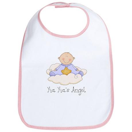 Yia Yia's Angel (Baby Boy) Bib