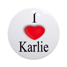 Karlie Ornament (Round)