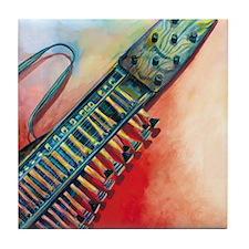 Nyckelharpa Tile Coaster