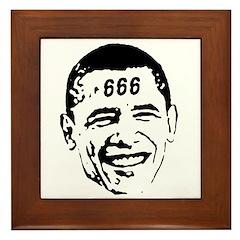 OBAMA 666 Framed Tile