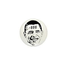 OBAMA 666 Mini Button (10 pack)