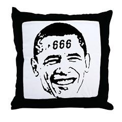 OBAMA 666 Throw Pillow