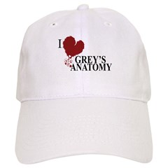 I Love Grey's Anatomy Baseball Cap
