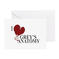 I Love Grey's Anatomy Greeting Card