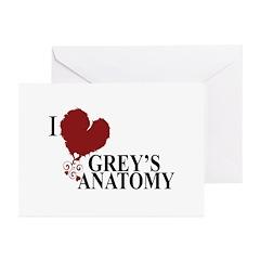 I Love Grey's Anatomy Greeting Cards (Pk of 10)