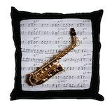 Music note pillow Throw Pillows