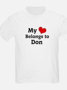 My Heart: Don Kids T-Shirt