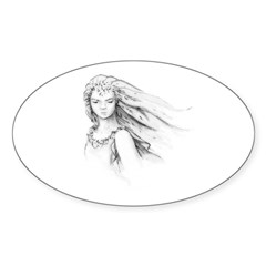 Elven Princess Oval Decal