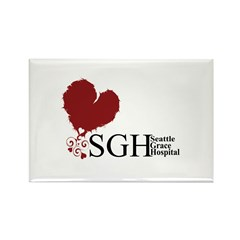 Seattle Grace Hospital Rectangle Magnet