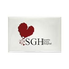 Seattle Grace Hospital Rectangle Magnet (10 pack)