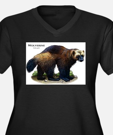 Wolverine Women's Plus Size V-Neck Dark T-Shirt