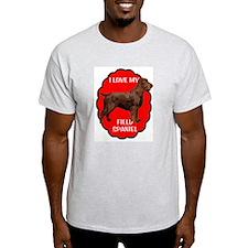Field Spaniel Love Ash Grey T-Shirt