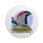 Lady Amherst Pheasant Ornament (Round)